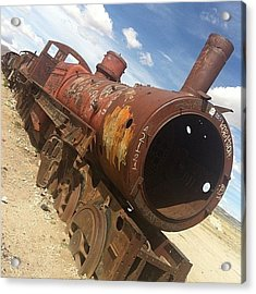 Rust Train Acrylic Print