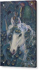 Acrylic Print featuring the painting Nola's Unicorn by Avonelle Kelsey