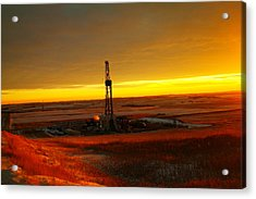 Nomac Drilling Keene North Dakota Acrylic Print