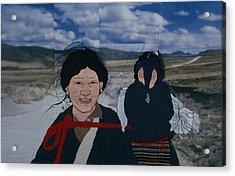 Nomad Girls Acrylic Print by Leslie Rinchen-Wongmo