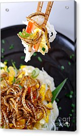 Noodles With Mealworms Acrylic Print by Emilio Scoti