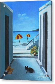 Noon At The Beach Acrylic Print by S G