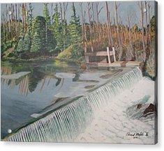 Nora Mill Waterfall Acrylic Print
