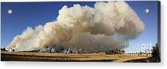 Norbeck Prescribed Fire Smoke Column Acrylic Print