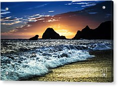 Norcal Sunset On Jenner Beach Acrylic Print