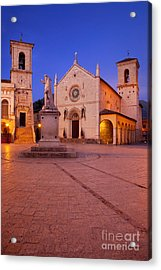 Norcia Umbria Acrylic Print by Brian Jannsen