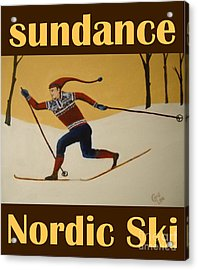 Nord Ski Poster Acrylic Print