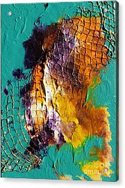 Acrylic Print featuring the painting Nordic Abstract by Susanne Baumann