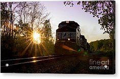 Norfolk And Southern At Sunset Acrylic Print