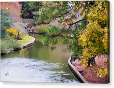Norfolk Botanical Gardens Canal 7 Acrylic Print by Lanjee Chee