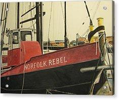 Norfolk Rebel Acrylic Print by Stan Tenney