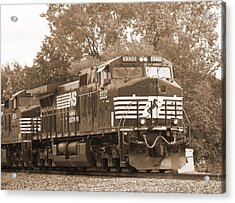 Norfolk Southern Freight Train Acrylic Print