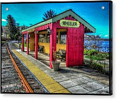 Acrylic Print featuring the photograph Norm Laknes Train Station by Thom Zehrfeld