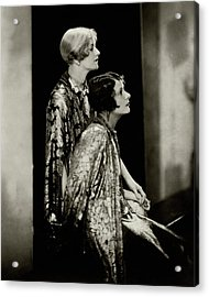 Norma And Constance Talmadge Acrylic Print by Edward Steichen