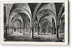 Norman Architecture Crypt Of Canterbury Cathedral Acrylic Print