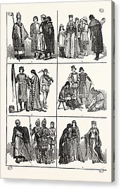 Norman Costumes Of The Eleventh And Twelfth Centuries 1 Acrylic Print
