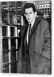 Norman Mailer Ieaves Jail Acrylic Print by Underwood Archives