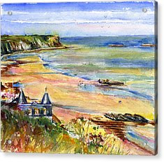Normandy Beach Acrylic Print by John D Benson
