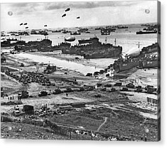Normandy Beach Supplies Acrylic Print