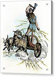 Norse Mythology Thor Acrylic Print by Granger