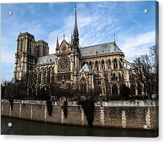 Norte Dame Cathedral-the South Side Acrylic Print