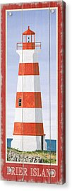 North American Lighthouses - Brier Acrylic Print