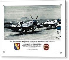 North American P-51d Mustang Acrylic Print