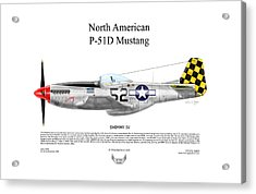 North American P-51d Shimmy Iv Acrylic Print by Arthur Eggers