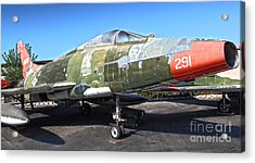 North American Super Sabre Qf-100d Acrylic Print by Gregory Dyer