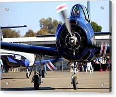 Acrylic Print featuring the photograph North American T-28c Leaving The Ramp N28cz by John King