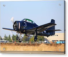 North American T-28c Taking Off N28cz Acrylic Print