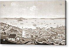 North Beach San Francisco 1861 Acrylic Print by Padre Art