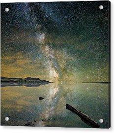 North Bend Milky Way Acrylic Print by Aaron J Groen
