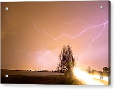 North Boulder County Colorado Lightning Strike Acrylic Print by James BO  Insogna