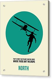 North By Northwest Poster 1 Acrylic Print by Naxart Studio