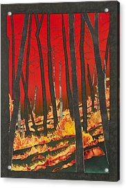 North Carolina Forests Under Fire II Acrylic Print