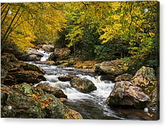North Carolina Highlands Nc Autumn River Gorge Acrylic Print