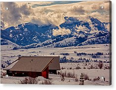 Acrylic Print featuring the painting North Cascades Mountain View by Omaste Witkowski