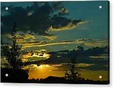 North Dakota Sunset Acrylic Print