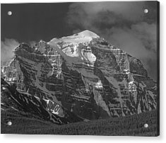 203553-north Face Mt. Temple Bw Acrylic Print