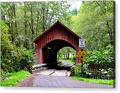 North Fork Yachats Covered Bridge Acrylic Print