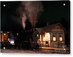 North Freedom Wisconsin Steam Train Acrylic Print by Clare VanderVeen