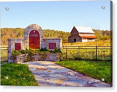 Acrylic Print featuring the photograph Landscape Barn North Georgia by Vizual Studio
