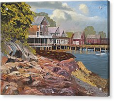 North Haven Harbor Maine Acrylic Print by Tommy Thompson