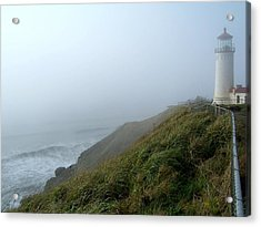 Acrylic Print featuring the photograph North Head Lighthouse 1 by Peter Mooyman