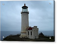 North Head Lighthouse At Cape Disappointment Acrylic Print by Lizbeth Bostrom