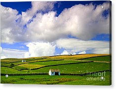 North Pennines Barns In Landscape Acrylic Print