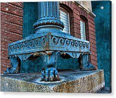 North Platte Post Office Lamp Post Acrylic Print by Sylvia Thornton