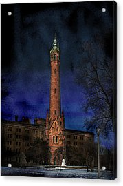 North Point Water Tower Acrylic Print by David Blank