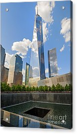 South Pool And Towers Acrylic Print by Ed Rooney